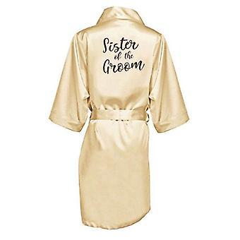 Nouvelle robe de demoiselle d'honneur avec des lettres mère soeur de la robe de mariage de mariée