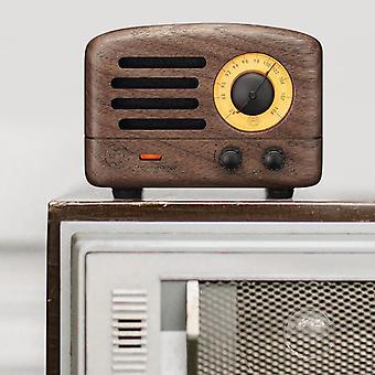 Maoking MW-2 Malý princ bluetooth 4.0 Drevený 5W reproduktor FM rádiový prijímač Podpora USB AUX