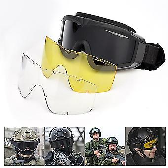 Óculos táticos militares airsoft tiro óculos motocicleta windproof jogo de guerra