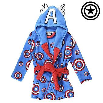 Children's dressing gown marvel blue