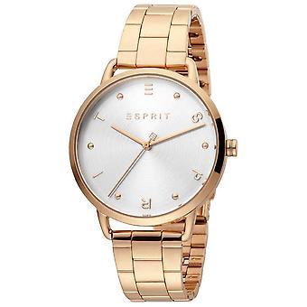 Esprit ES1L173M0085 روز الذهب الفولاذ المقاوم للصدأ حزام السيدات ووتش