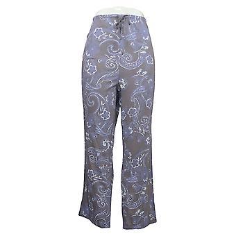 Carole Hochman Women's Petite Paisley Lounge Pants Purple A381868