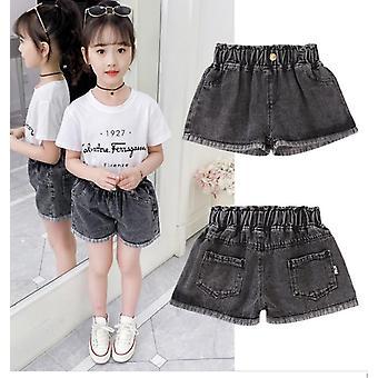Girls Cotton Denim Jeans Shorts, Thin, Soft Trousers