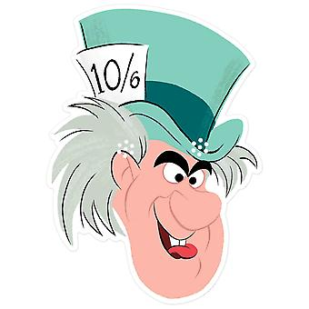 Mad Hatter from Alice in Wonderland Official Disney 2D Card Party Mask