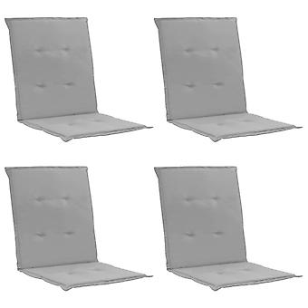 vidaXL ガーデンチェアエディション 4 pcs. グレー 100 x 50 x 3 cm