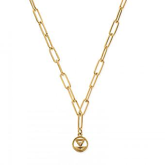 ChloBo Sterling Silver Gold Plated Link Chain Earth Necklace GNLC3113