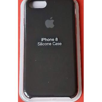 Original packad Apple Silikon Microfiber Cover Cover Case för iPhone 8/7/SE 2020 - Svart