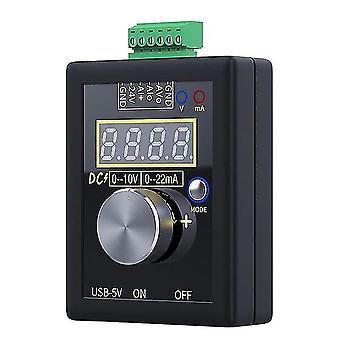 0-5V 0-10v 4-20ma Signalgenerator und wiederaufladbare Batterietasche einstellbare Spannung Strom Simulator Kalibriergerät
