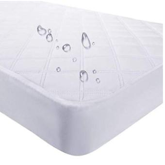 """Waterproof Fitted Quilted Natural Bamboo Fiber Fabric Baby Cover Crib Mattress Protector with Pad Liner 9"""""""