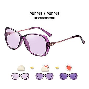 Photochromic aurinkolasit naisille polarisoidut matkalasit ylisized ylellinen naisten silmälasit