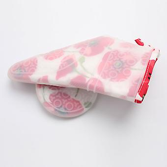 Silicone Printed Rose Flower Heat Resistant Oven Mitts