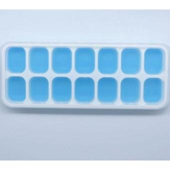Plastic Molds Ice Tray 14 Grid Ice Molds Home Bar Party Use Ice Cube Makers(25.4*3.0*9.8cm,Blue)