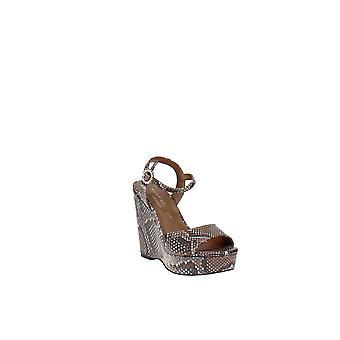 Kurt Geiger   Archer Snake-Embossed Wedge Platform Sandals