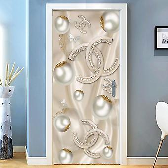 3d Stereo Jewelry Diamonds Wall Door Sticker