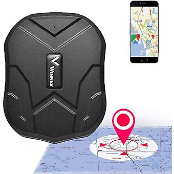 Winnes GPS Tracker, طويل الاستعداد في الوقت الحقيقي لمكافحة سرقة GPS تعقب مع مغناطيس قوي 5000mah البطارية, جهاز تتبع للماء لشاحنة سيارة مركبة (أسود)