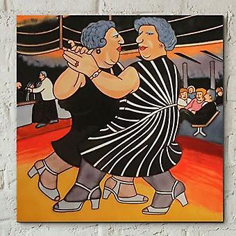Tile 8x8 Dancing On The QE2 Por Beryl Cook Wall Art