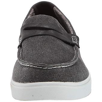 MUK LUKS Men's David Canvas Shoe-Ebony Sneaker