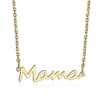 Mama Necklace Stainless Steel Neck Chain Link Mothers Day Gift Mom Neck Decoration(Gold)