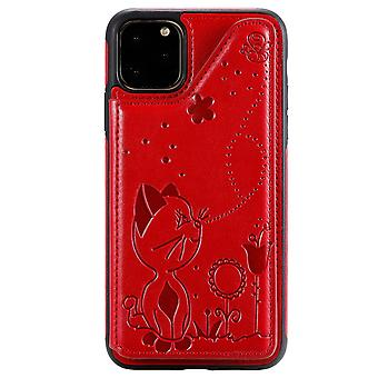 Pu leather cover for samsung note8 shockproof case with card slot red kds-4207