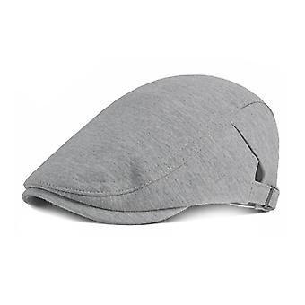 Mimigo Men's Cotton Flat Ivy Gatsby Newsboy Driving Hat Cap For Spring And Autumn Adjustable Size Multi Colors