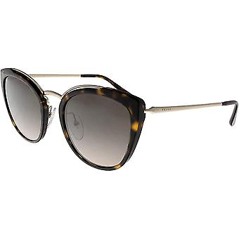 Prada 0PR 20US Havana/Light Brown Gradient Mirror/Silver Sunglasses