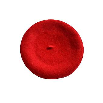 Iarna Cald Faux Lână Beretă Doamnelor Franceză Artist Beanie Hat / Cap (Roșu)