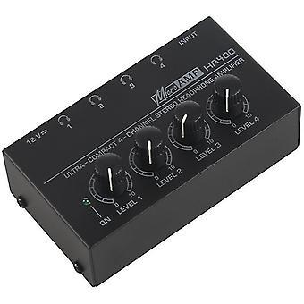 Sluchátkové zesilovače ultra kompaktní 4 kanály stereofonní sluchátkový zesilovač s napájecím adaptérem