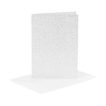 4 Silver Glitter A6 lege kaarten en enveloppen voor card making crafts