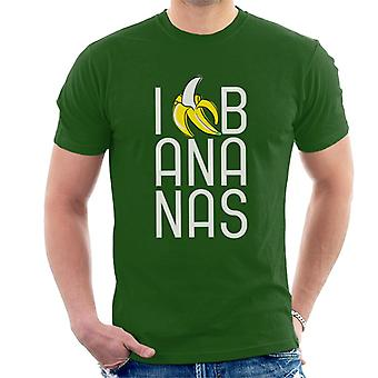 Curiosa maglietta da uomo George I Love Bananas