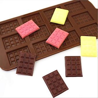 12 Even chocolate mold silicone fondant molds diy candy bar mould sugarcraft cake decoration tools kitchen baking accessories