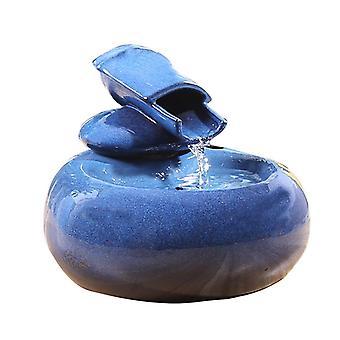 نافورة المياه القط نافورة المياه الكهربائية الكلب القط الحيوانات الأليفة شارب السلطانية الحيوانات الأليفة القط نافورة الشرب (الأزرق)