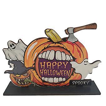 Halloween Wooden Ornaments Pumpkin Ghost Trick or Treat Pendants Halloween Party Decoration for Home Door Hanging Signs