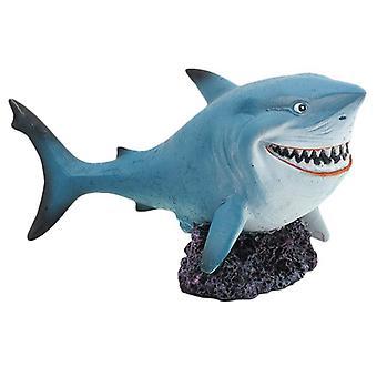 1pc Fish Tank Decoration Fashion Beautiful Creative Shark Decoration Shark Craft For Home Office