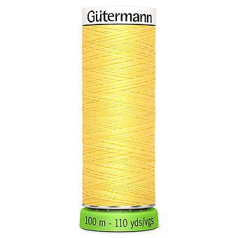 Gutermann 100% genanvendt polyester sy-alle tråd 100m hånd og maskine - 852