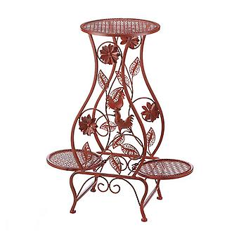 Summerfield Terrace Red Rooster Iron Triple Plant Stand, Pack of 1