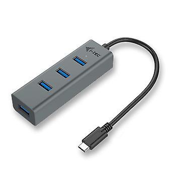 i-tec Metal C31HUBMETAL403, USB 3.2 Gen 1 (3.1 Gen 1) Type-C, USB 3.2 Gen 1 (3.1