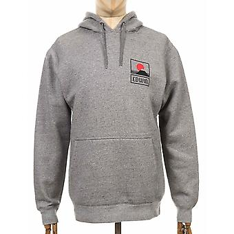 Edwin Jeans Sunset On Mt Fuji Hooded Sweatshirt - Grey Heather