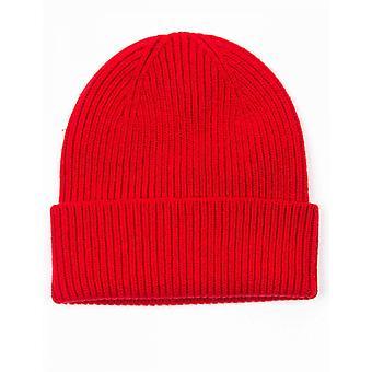 Colorful Standard Merino Wool Beanie Hat - Scarlet Red
