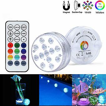 Remote Control Diving Light 13 Lights Large Suction Cup Swimming Pool Light Waterproof Fish Tank Light Underwater Light