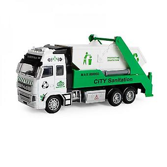 White diecast metal realistic city sanitization truck toy mz1158