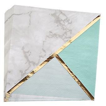 מפית נייר שיש בלוק צבע - מנטה