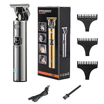 Lcd haartrimmer voor mannen usb oplaadbare tondeuse elektrische scheerapparaat professionele kapper baard