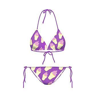 Women's  Ice Cream Print 2 Pcs Bikini Swimsuit