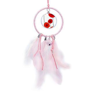 الدائرة الحمراء الزهور الفن اللوحة حلم الماسك جرس صغير ديكور غرفة نوم