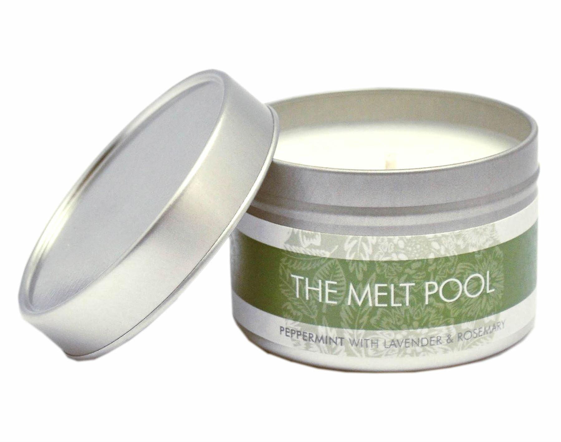 Small Tin Peppermint, Lavender & Rosemary Candle