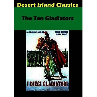Tio gladiatorer [DVD] USA import