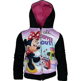 Disney Minnie Maus / Mädchen Fleece Full Zip Sweatshirt mit Kapuze