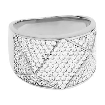 Premium bling - Sterling 925 Silver ring - KANTIG