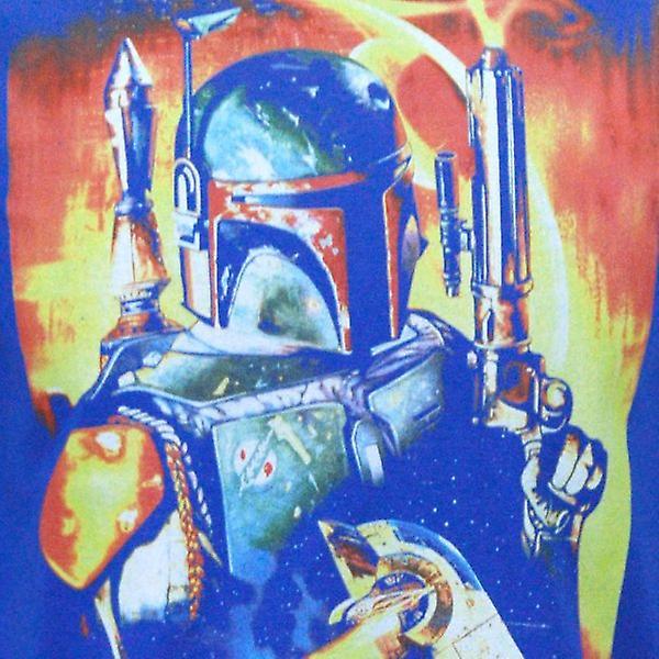 Bleu de Star Wars Mens Star Wars Boba Fett T Shirt