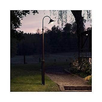 Konstsmide Vega Black Swan Neck Garden Column Lantern Post